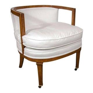 Vintage Barrel Back Chair For Sale