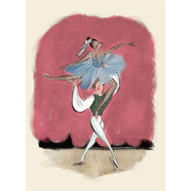 """""""The Balletomane"""" Limited Edition Print on Etching Paper by Tug Rice 2018 For Sale"""