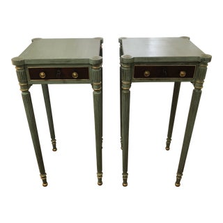 20th Century Traditional Painted End Tables - a Pair