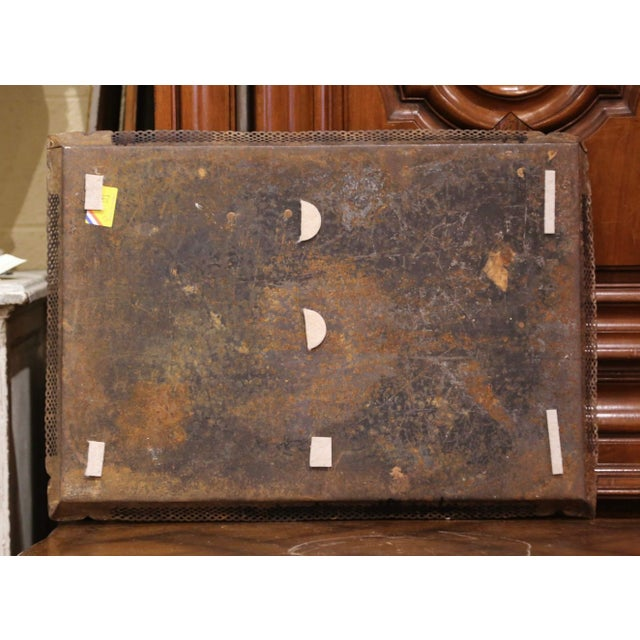 Mid-19th Century French Napoleon III Hand Painted Tole Tray With Bird Motifs For Sale In Dallas - Image 6 of 7