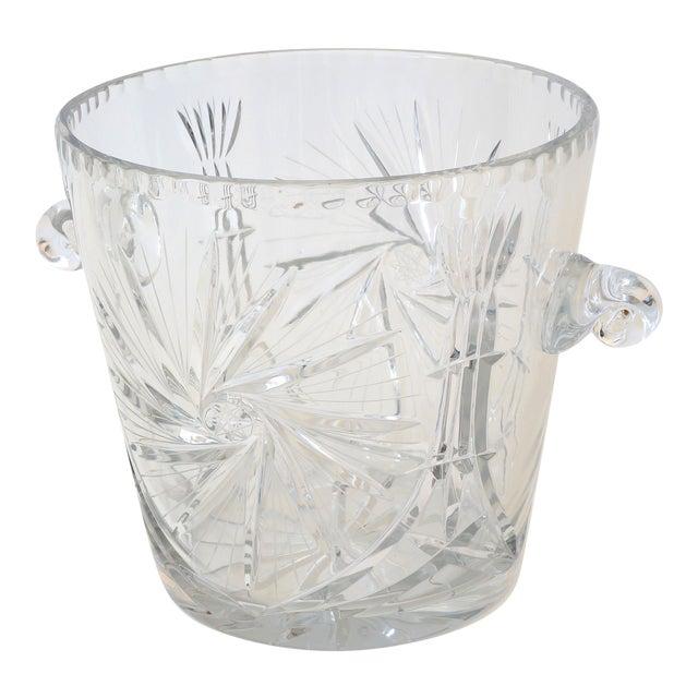 Vintage Ice Bucket Lead Crystal Pressed Design For Sale