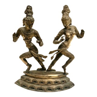 19th Century Bronze Indian Dancers For Sale