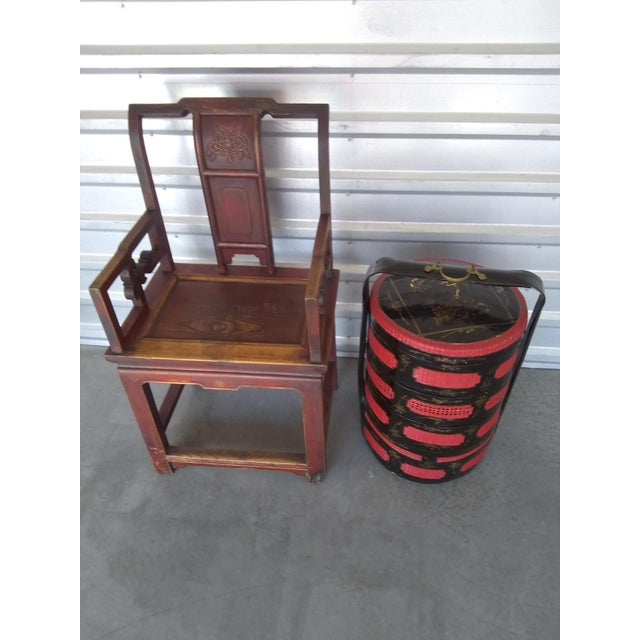 Late 19th Century Antique Chinese Officials Chair For Sale - Image 11 of 13