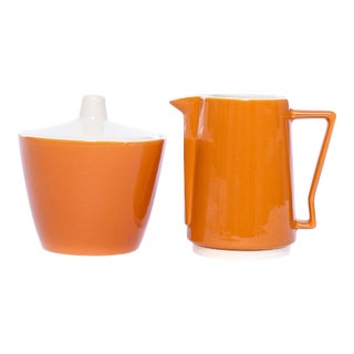 Caramel Harmony House Ironstone Sugar and Creamer Set - Set of 2 For Sale