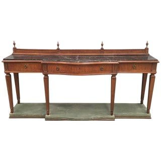 20th Century Louis XVI Style Neoclassical Console Table With Three Drawers For Sale