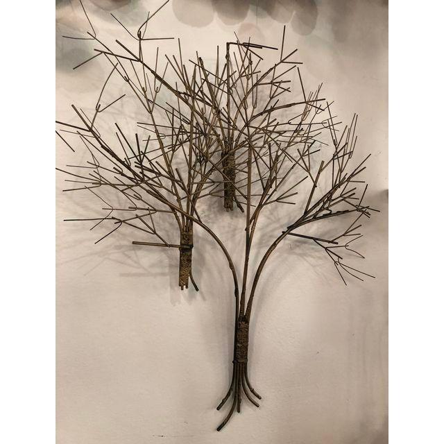 Hollywood Regency Vintage Metal Tree Wall Art Sculpture For Sale - Image 3 of 11