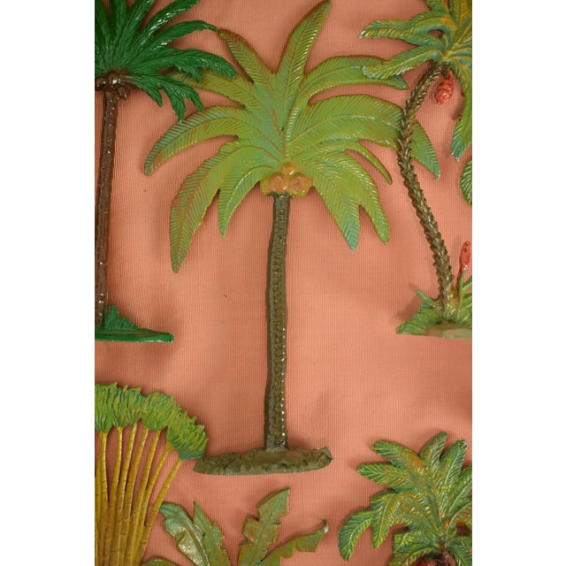 Vintage Mid-Century Hand-Painted Palm Trees - Set of 10 For Sale - Image 10 of 11