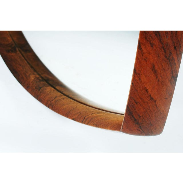 Danish Triangular Rosewood Mirror For Sale In New York - Image 6 of 6