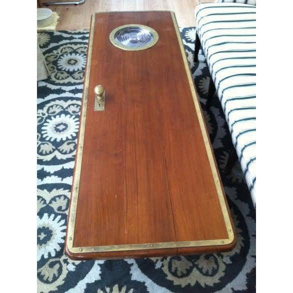 Authentic Nautical Repurposed Ship's Door Coffee Table - Image 3 of 6