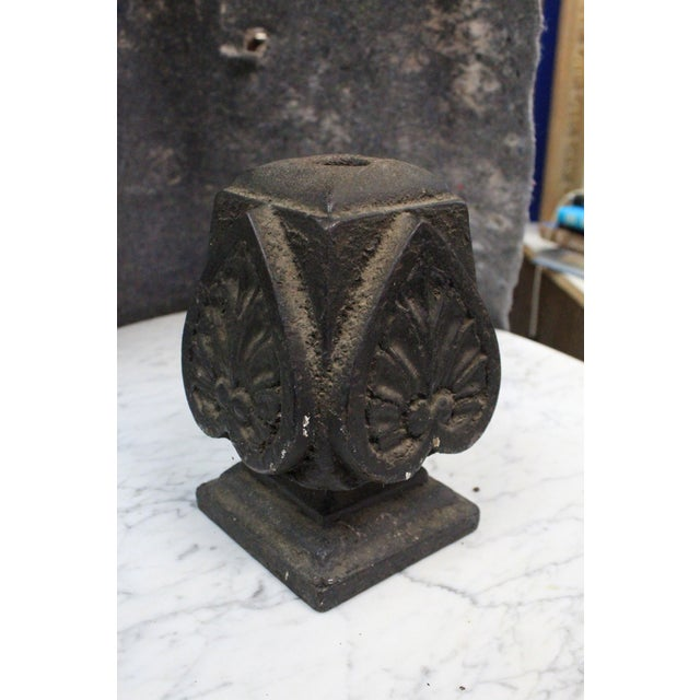 Early 20th Century Early 20th Century Vintage Iron Finial For Sale - Image 5 of 5