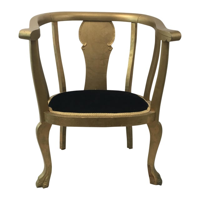 Gold Claw Foot Chair - Image 1 of 9