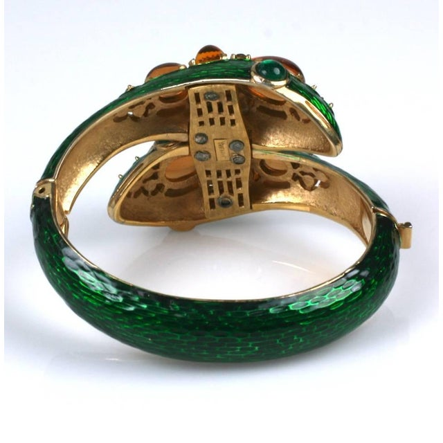 Trifari Trifari Jeweled Snake Bangle For Sale - Image 4 of 6