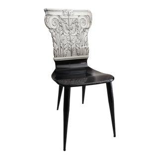 Vintage Piero Fornasetti Capitello Corinzio Chair For Sale