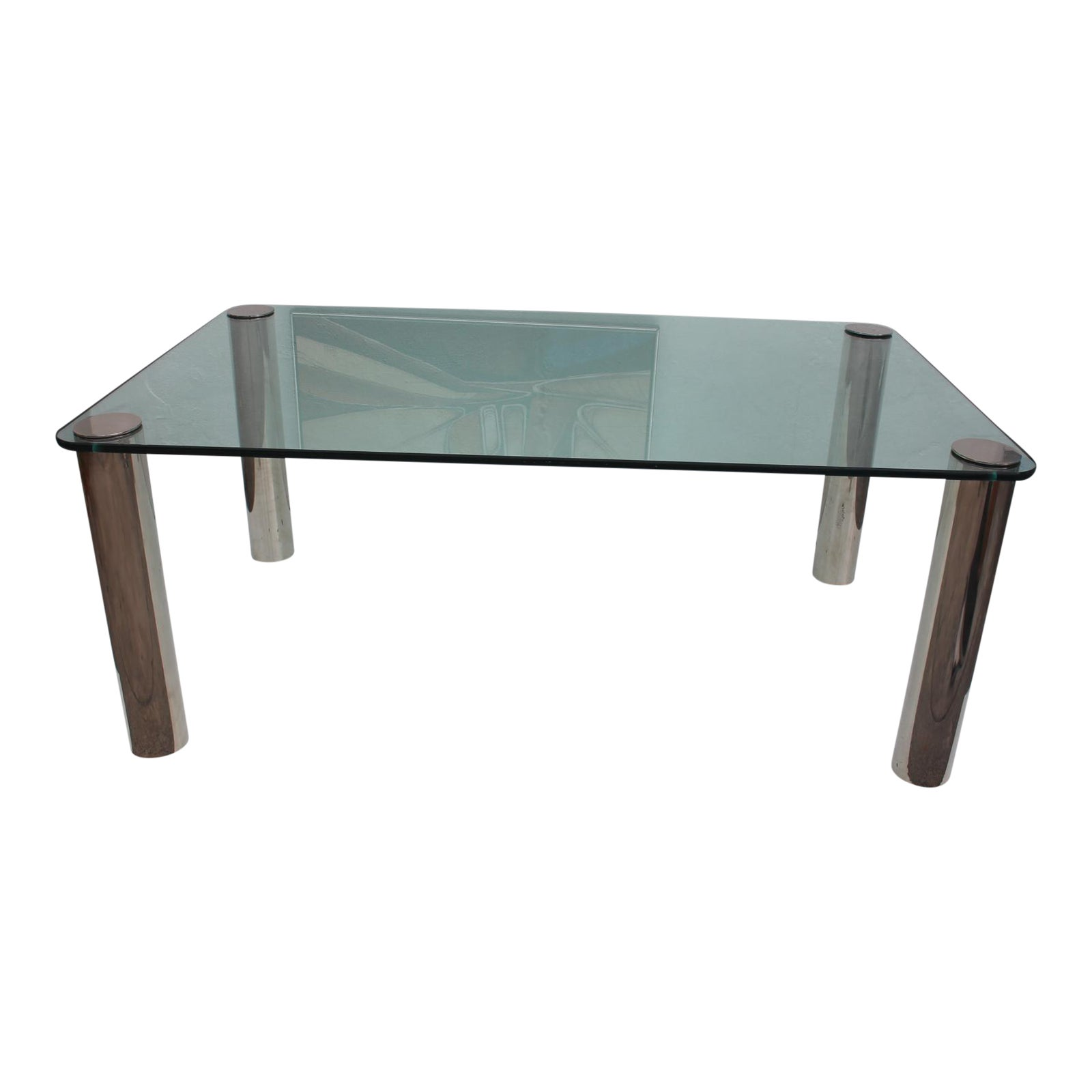 Pace Chrome Leg Glass Top Dining Table Chairish