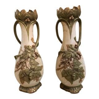 Royal Dux Flower Vases or Centerpieces, Art Nouveau Er - a Pair For Sale