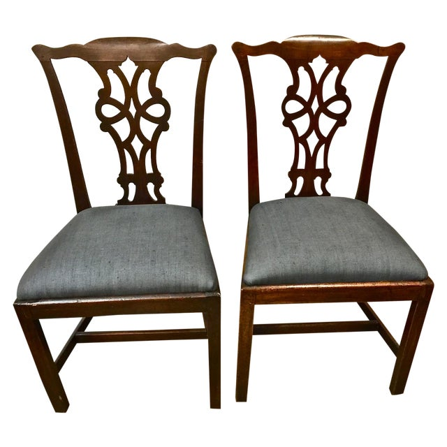 Antique 18th C. Georgian Side Chairs - A Pair - Image 1 of 7