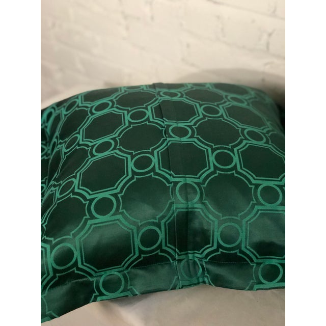 "24"" Square Pair of Jim Thompson Emerald Green Pillows in Asia Major For Sale In Atlanta - Image 6 of 9"