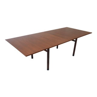 1950s Vintage Edward Wormley for Dunbar Walnut Extension Dining Table For Sale