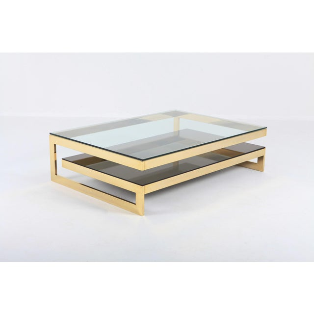 Belgo Chrome Golden G Coffee Table Extra Large For Sale - Image 6 of 12