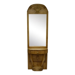 Pine and Beechwood Pier or Console Mirror For Sale