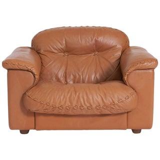 1960s Vintage De Sede Leather Ds 101 Lounge Chair For Sale