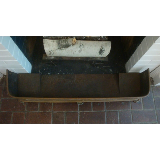 Early 20th Century Early Arts & Crafts Brass Fireplace Fender Rail For Sale - Image 5 of 9