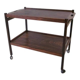 Danish Rosewood Serving or Bar Cart For Sale