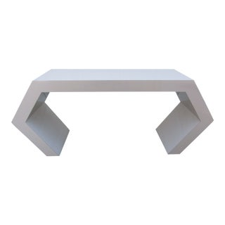Modern Geometric Console Table For Sale