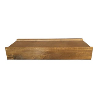 Rustic Pottery Barn Wall Shelf For Sale