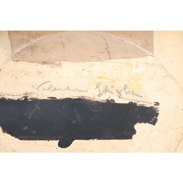 20th Century Italian Oil Painting on Wood Panel by Valentino Ghiglia For Sale - Image 6 of 7