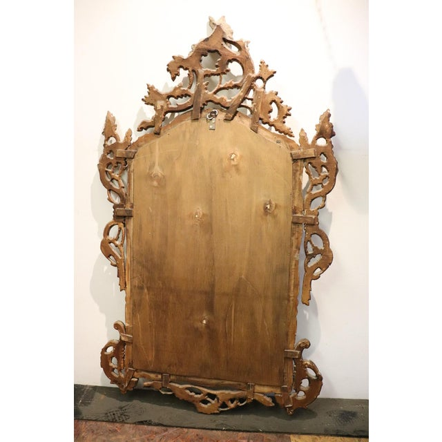 20th Century Italian Louis XV Style Silvered Wood Antique Wall Mirror For Sale - Image 9 of 11