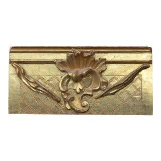 23 Karat Gold Gilded Plaque on Board For Sale