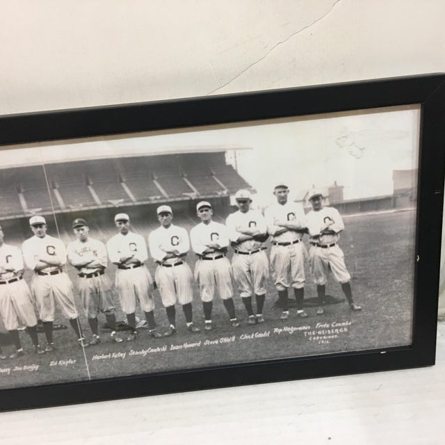A beautiful reproduction photo of a 1916 Baseball Team Photo. Could be Chicago. A great man cave sports theme decor.