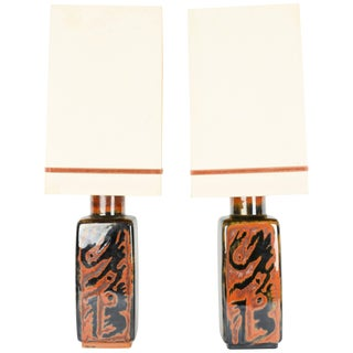 "Carl Harry Stalhane for Rörstrand Ab ""Sultan"" Table Lamps - a Pair For Sale"