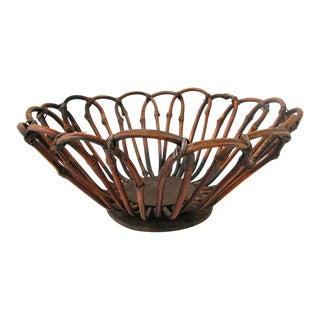 Bent Bamboo Fruit Basket For Sale