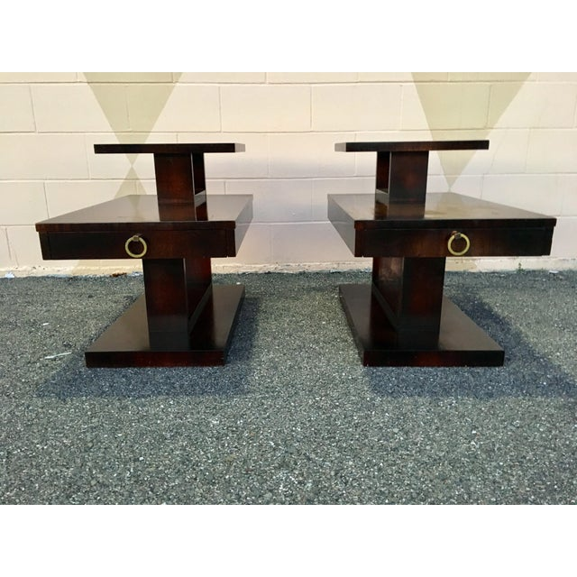 1960s Mid Century Modern Brutalist Lane Side Tables - a Pair For Sale - Image 11 of 12