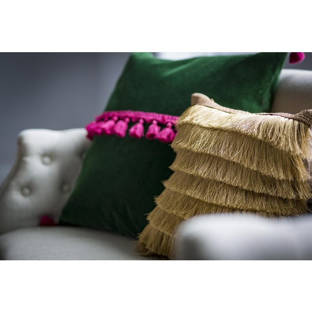 Contemporary Sundra Gold Pillow For Sale - Image 3 of 4