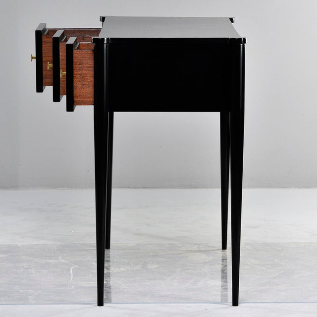 English Traditional Bespoke Ebonised Console With Vellum Drawers For Sale - Image 3 of 13