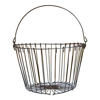 Rustic Vintage Metal Basket