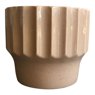 1960s Vintage Bauer Biltmore Beige Ceramic Planter Pot For Sale