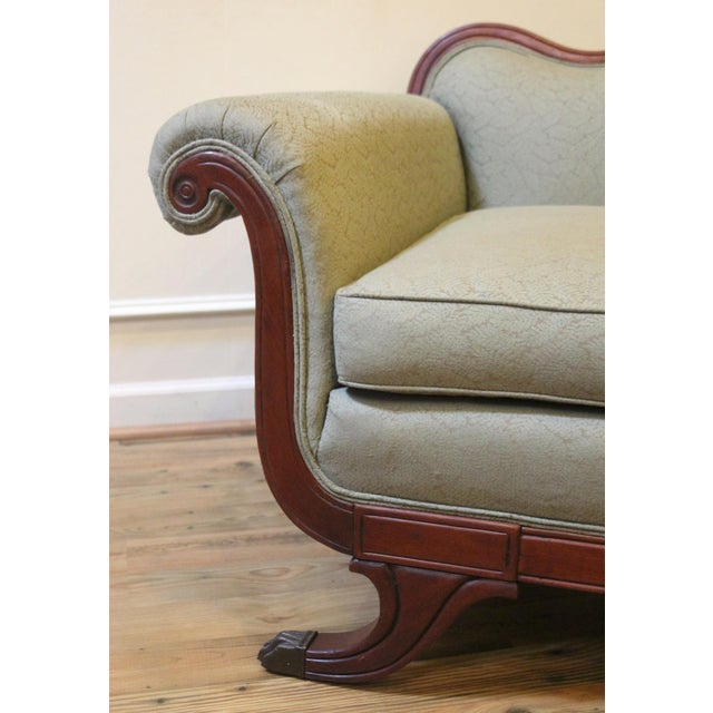 Vintage 1930's Duncan Phyfe Style Sofa For Sale In Raleigh - Image 6 of 13