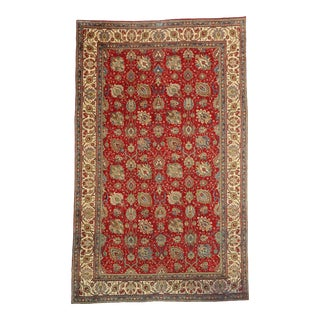 Vintage Persian Tabriz Palace Rug With Traditional Style - 09'05 X 15'08 For Sale