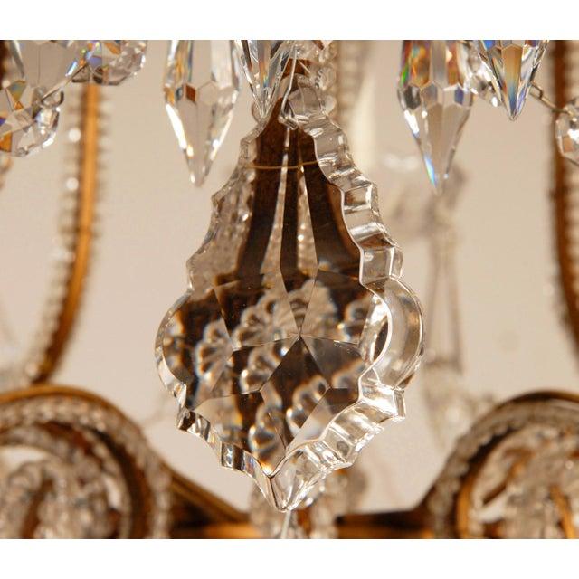 1970s Mid-Century Hollywood Regency Italian Design Crystal Beaded Chandelier For Sale - Image 10 of 13