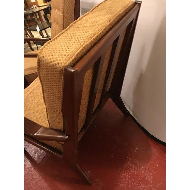 A Pair of Danish Modern lounge arm chairs. A spectacular pair of Mid-Century Modern lounging chairs. Each having new...