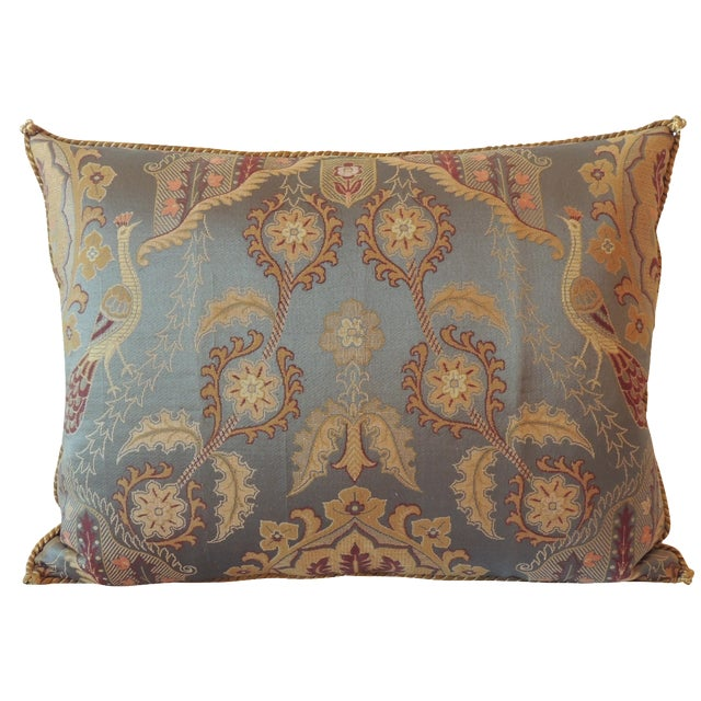 Vintage Brocaded Textile Silk Pillow. - Image 1 of 5
