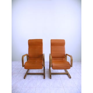 Mid-Century Modern Thonet Bentwood Cantilever Lounge Chairs - a Pair Preview