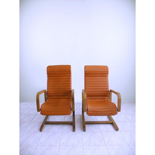 These 1960s danish modern, Cantilever Armchairs by Thonet are incredible! Not only in terms of comfort, though their...
