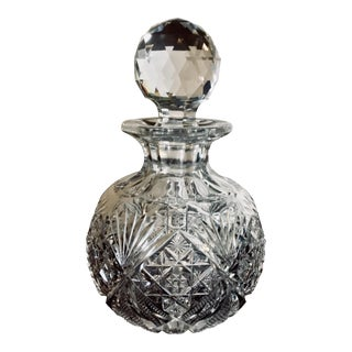 "Dorflinger ""Marlboro"" Pattern American Brilliant Cut Crystal Cologne Bottle For Sale"