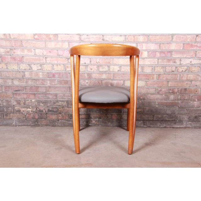 Baker Furniture Mid-Century Modern Sculpted Solid Maple Dining Chairs, Set of Six For Sale - Image 9 of 13