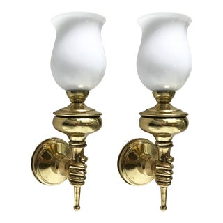Vintage Andre Arbus Sconces - a Pair For Sale